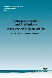 bokomslag Entrepreneurship and Institutions