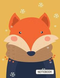 bokomslag Notebook: Cute Fox on the Orange Cover This Notebook Journal Diary, 110 Dashed Lines Pages, 8.5 X 11, Date on Top