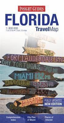 bokomslag Insight Guides Travel Map Florida