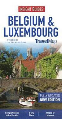 bokomslag Insight Guides Travel Map Belgium and Luxembourg