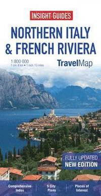Insight Travel Map: Northern Italy & French Riviera