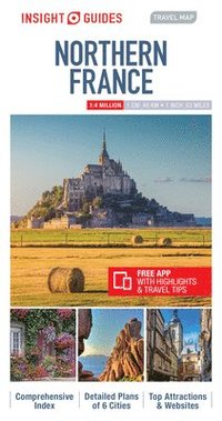 bokomslag Insight Guides Travel Map Northern France