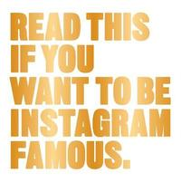 bokomslag Read This If You Want to be Instagram Famous