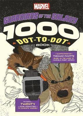 bokomslag Marvels guardians of the galaxy 1000 dot-to-dot book - twenty comic charact