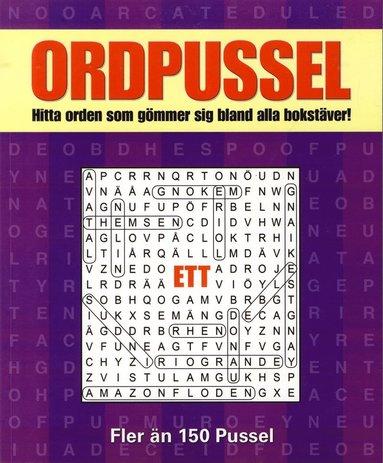bokomslag Ordpussel 1 : hitta orden som gömmer sig bland alla bokstäver!