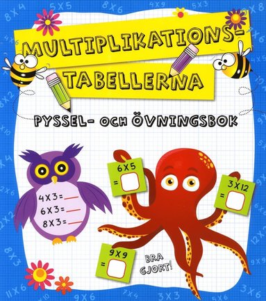 bokomslag Multiplikationstabellerna - Pyssel och övningsbok