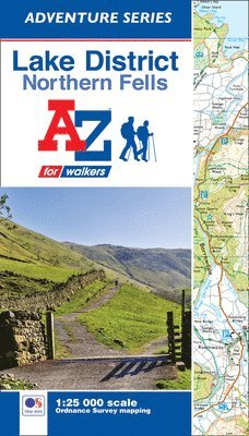bokomslag Lake district (northern fells) adventure atlas