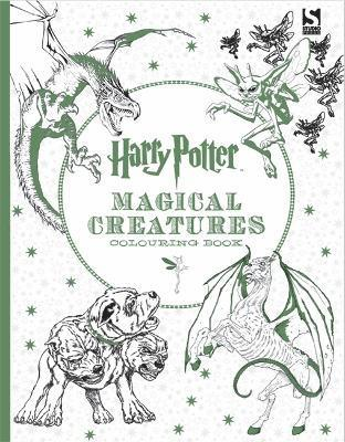bokomslag Harry potter magical creatures colouring book