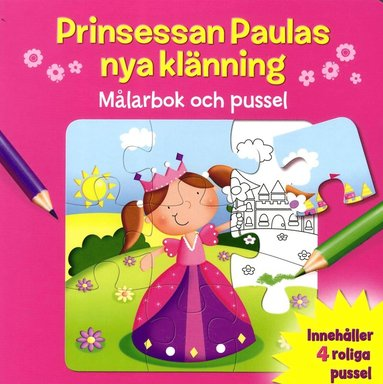 bokomslag Prinsessan Paulas nya klänning : målarbok och pussel