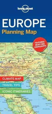 bokomslag Lonely Planet Europe Planning Map