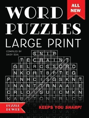 bokomslag Word puzzles large print - word play twists and challenges