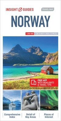 bokomslag Insight Guides Travel Map Norway