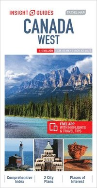 bokomslag Insight Guides Travel Map Canada West