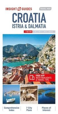 bokomslag Insight Guides Travel Map Croatia Istria &; Dalmatia