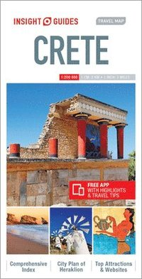 bokomslag Insight Guides Travel Map Crete