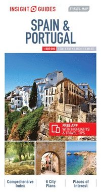 bokomslag Insight Guides Travel Map of Spain &; Portugal