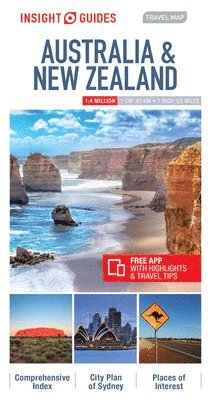 bokomslag Insight Guides Travel Map Australia &; New Zealand