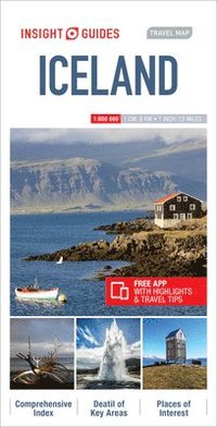 bokomslag Insight Guides Travel Map Iceland