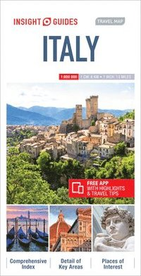 bokomslag Insight Guides Travel Map Italy