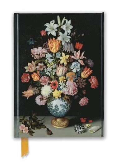 Anteckningsbok 22x16cm linjerad National Gallery: Bosschaert - Still life of Flowers