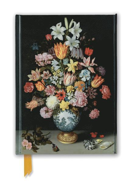 Anteckningsbok 22x16cm linjerad National Gallery: Bosschaert - Still life of Flowers 1