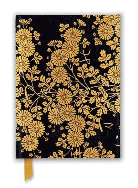 Anteckningsbok 22x16cm linjerad Golden Chrysanthemums 1