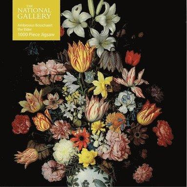 Pussel 1000 bitar National Gallery Bosschaeart the Elder: A Still Life of Flowers