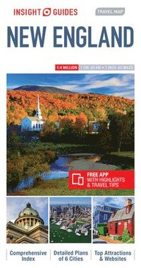 bokomslag Insight Guides Travel Map New England