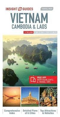 bokomslag Insight Guides Travel Map Vietnam, Cambodia &; Laos (Insight Maps)