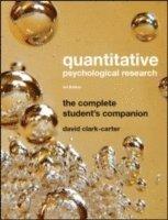 bokomslag Quantitative Psychological Research