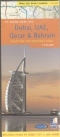 bokomslag Dubai, UAE, Qatar & Bahrain Rough Guide Map