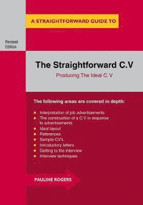 bokomslag Straightforward c.v. - producing the ideal c.v.