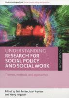 bokomslag Understanding Research for Social Policy and Social Work
