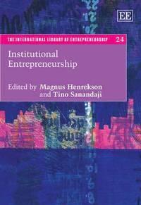 bokomslag Institutional Entrepreneurship