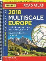 bokomslag Philips 2018 multiscale road atlas europe - (a4 spiral binding)
