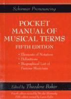bokomslag Schirmers handy book of musical terms and phrases