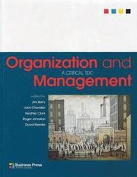 bokomslag Organization and Management