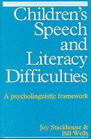 bokomslag Childrens speech and literacy difficulties:psycholinguistic framework