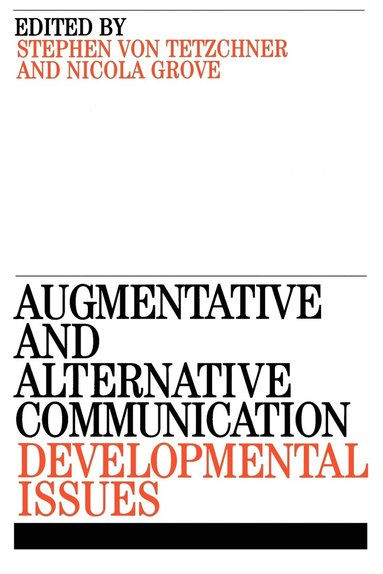 bokomslag Augmentative and Alternative Communication: Developmental Issues