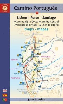 bokomslag Camino portugues maps - sixth edition - lisboa-porto-santiago