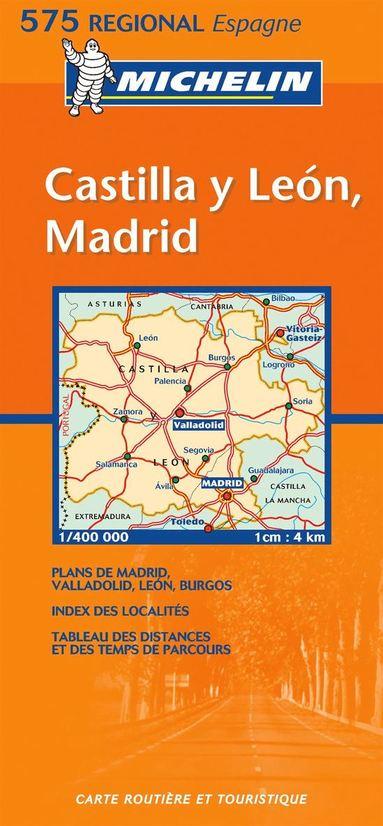 bokomslag Castilla y Leon Madrid Michelin 575 delkarta Spanien : 1:400000