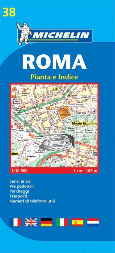 bokomslag Rom Michelin 38 stadskarta : 1:10500