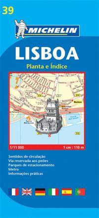 bokomslag Lissabon Michelin 39 stadskarta : 1:11000