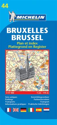 bokomslag Bryssel Michelin 44 stadskarta : 1:17500