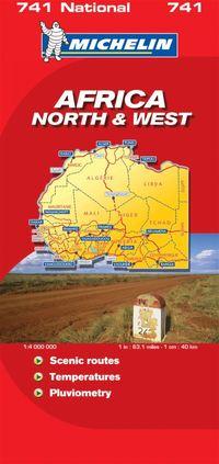 bokomslag Nordvästra Afrika Michelin 741 karta : 1:4milj