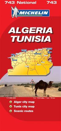 Algeriet och Tunisien Michelin 743 karta : 1:1milj