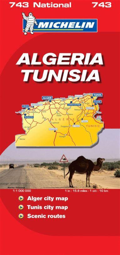 bokomslag Algeriet och Tunisien Michelin 743 karta : 1:1milj