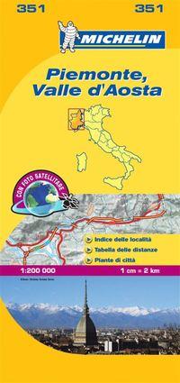 Piemonte Valle d'Aosta Michelin 351 delkarta Italien : 1:200000