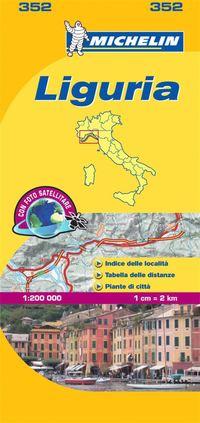 bokomslag Liguria Michelin 352 delkarta Italien : 1:200000