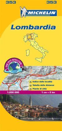 Lombardia Michelin 353 delkarta Italien : 1:200000